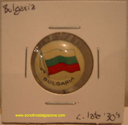 Bulgaria Tin Litho Pin