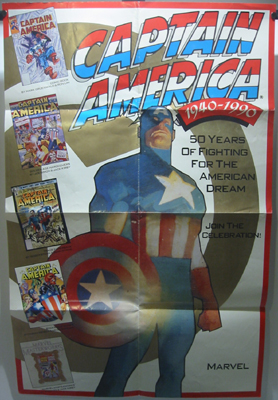Captain America 1940-1990 Poster