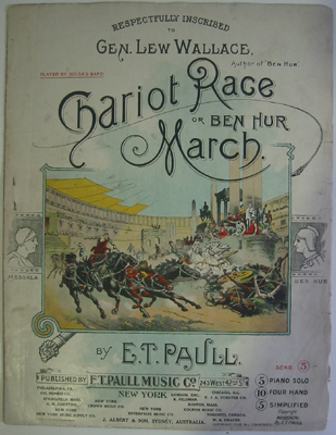 Chariot Race or Ben Hur March Sheet Music