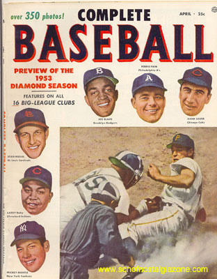 Complete Baseball Magazine April, 1953