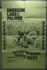 Emerson Lake and Palmer Rock 'N Roll Your Eyes Original 1 Sheet Movie Poster