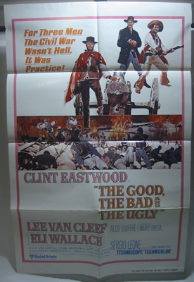 The Good, The Bad and The Ugly 1 Sheet Movie Poster