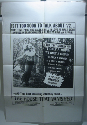The House That Vanished Original 1 sheet Movie Poster