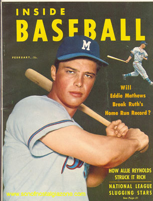 Inside Baseball Magazine February, 1954
