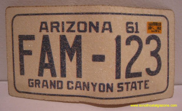 Arizona License Plate Sticker