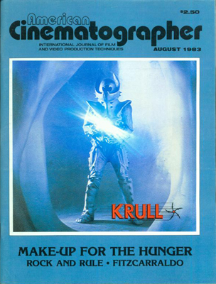 American Cinematographer Magazine August, 1983