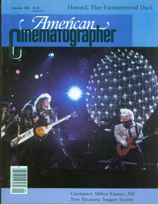 American Cinematographer Magazine September, 1986