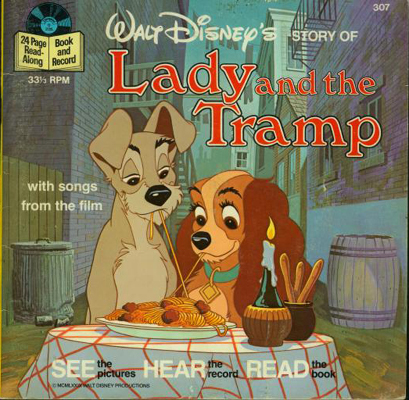Lady and the Tramp Book and Record